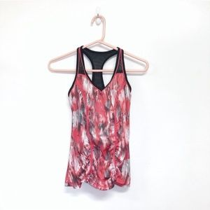 Zella Pink and Black Patterned Tank Top